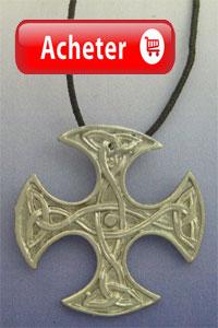 croix celtique Clackham argent