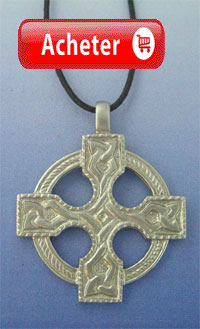 croix celtique argent pendentif