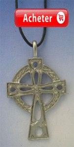 croix celtique Saint Petroc argent