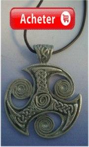 grand triskel celtique argent pendentif