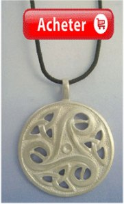 triskel celtique argent pendentif