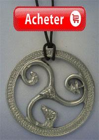 triskelium celtique pendentif argent