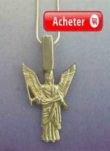 ange jeliel pendentif charm argent