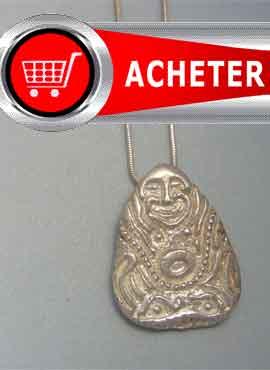 bouddha riquesse pendentif argent