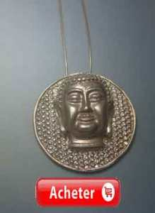 bouddha medaille pendentif argent