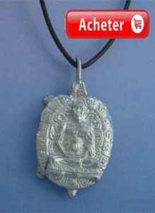 pendentif bouddha tortue argent