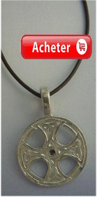 croix celtique argent saint columba