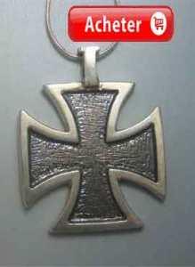 croix des templiers charm pendentif argent 925