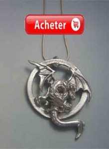 dragon de deux têtes bicéphale pendentif argent