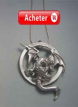 dragon de deux têtes biphefale pendentif argent