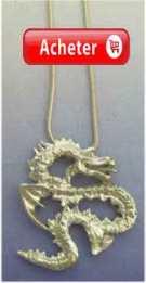 dragón córeen yong pendentif argent 925