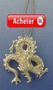 dragon-japonais-fuku-riu-argent pendentif collier