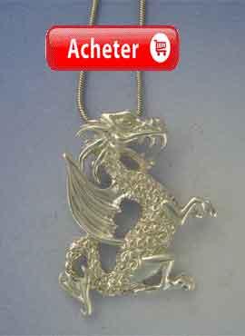 dragon st georges pendentif argent