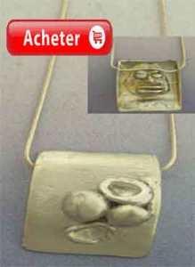 Eleggua pendentif-orixa umbanda pendentif argent 925