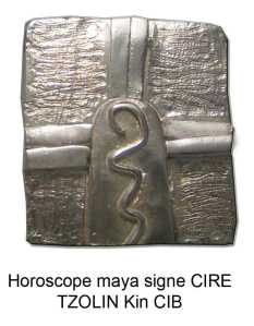 horoscope maya signe cire o guerrier. Tzolkin kin cib. Zodiques glyphes mayas calendrier pendentif argent