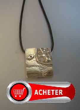 horoscope maya signe serpent kin chichan. pendentif en argent