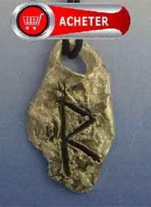 rune Raidho, raidha, rad, ràdh, reid ou reidh Pendentif argent 925
