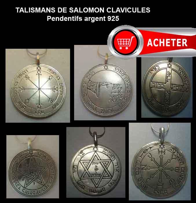 talismans-salomon-pentacles Pendentifs argent