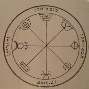 Talismán Mercure troisième pentacle