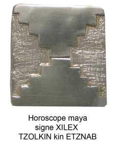 horoscope maya signe silex ou miroir, tzolkin kin etznab zodiaque