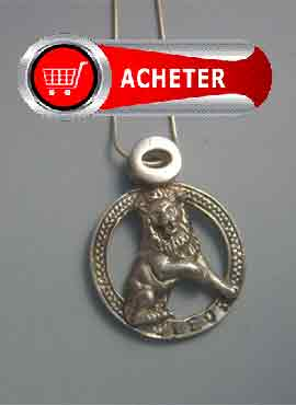 pendentif lion signe zodiaque horoscope argent