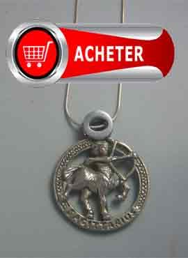 sagittaire pendentif en argent du zodiaque horoscope