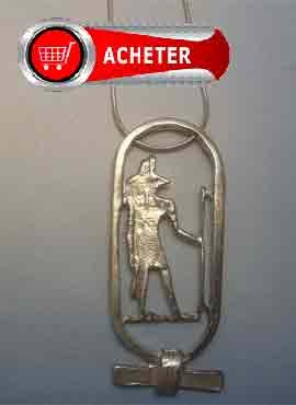 Anubis dieu Egypte pendentif argent bijoux