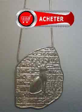 Bastet Egypte Rosetta pendentif argent