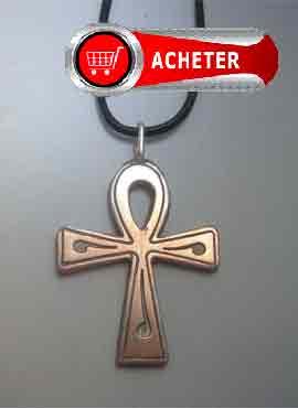 ankh-croix- egypte pendentif argent