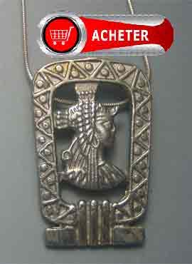 Cleopâtre Egypte pendentif argent