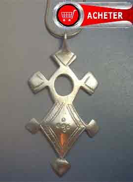 croix d'Agadez pendentif en argent amulette touareg