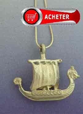 drakkar-bateau-viking-bijoux pendentif en argent