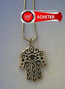 khamsa main de Fatma La khamsa, khmissa ou tafust amulette arabe pendentif argent