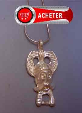 masque dieu viking Odin en argent amulette pendentif argent