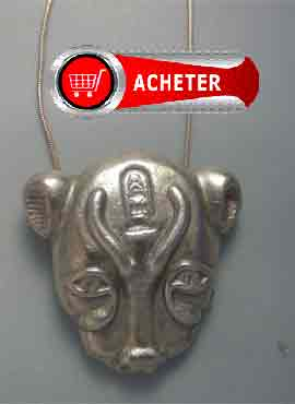 Sekhmet déeesse lion pendentif argent bijoux