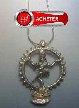 shiva-dieu hindouisme pendentif-bonheur argent amulette