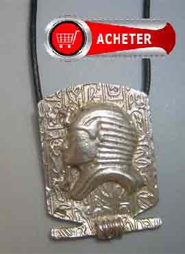 toutânkhamon masque pendentif argent bijoux