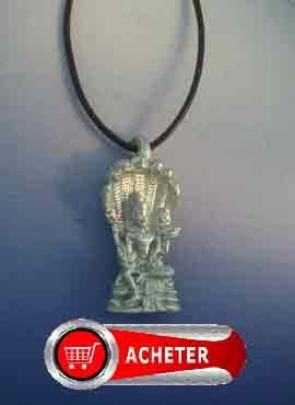 vishnou-dieu-pendentif argent amulette hindouisme