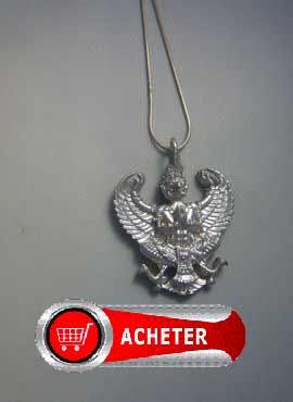 Garuda dieu aigle hindouiste. Pendentif bijoux argent